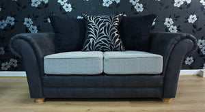 Perez Noir (Exclusive) 2 Seater Pillow Back Sofa