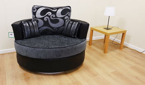 Lush Chenille Swivel Chair