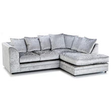 Load image into Gallery viewer, Paris Glitz Crushed Velvet Right Hand Corner Sofa