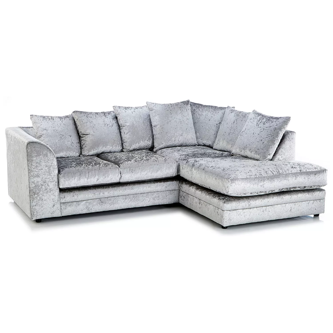 Paris Glitz Crushed Velvet Right Hand Corner Sofa