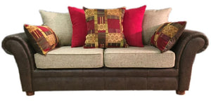 Perez 3 Seater Pillow Back Sofa