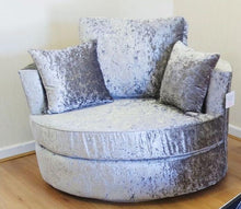 Load image into Gallery viewer, Delta Glitz Crushed Velvet Swivel Chair