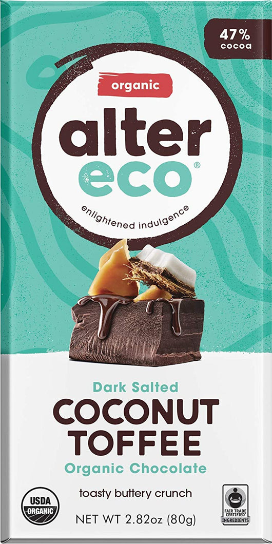 Alter Eco Coconut Toffee Chocolate Bar