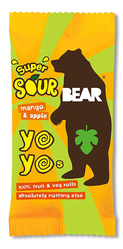 Bear Yo Yo Fruit Roll-Ups Sour Box - Mango