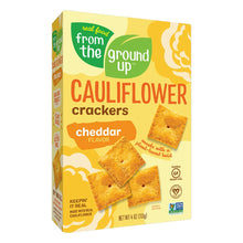 Load image into Gallery viewer, From the Ground Up Cauliflower Crackers - Cheddar