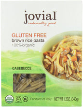 Load image into Gallery viewer, Jovial Caserecce Brown Rice Pasta