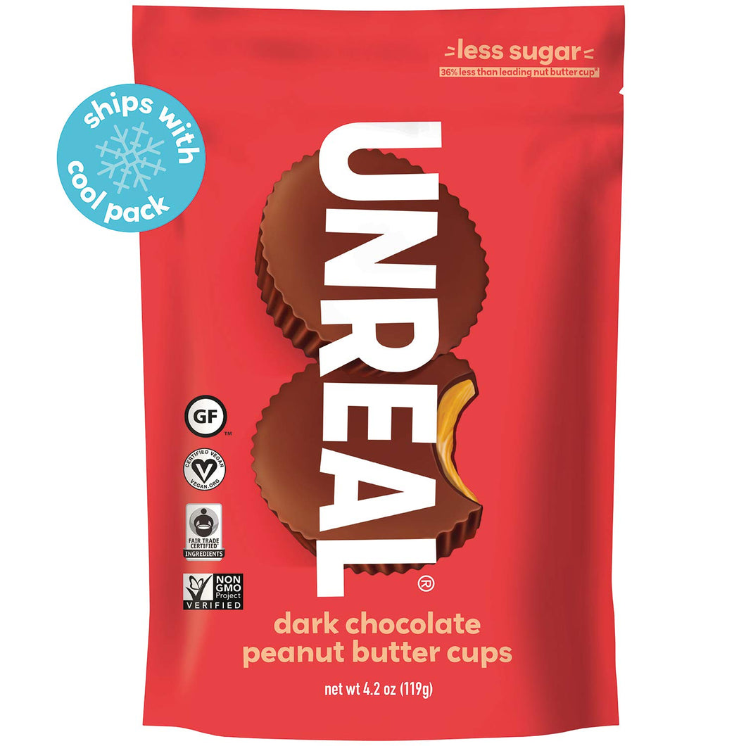 Unreal Dark Chocolate Peanut Butter Cups - Large Bag