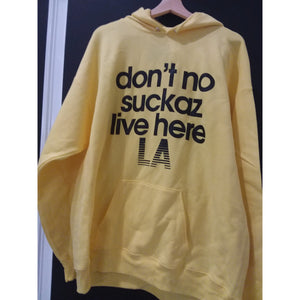 Don't No Suckas Don DeMarco Hoodie (Yellow) - AMOUR NOIR