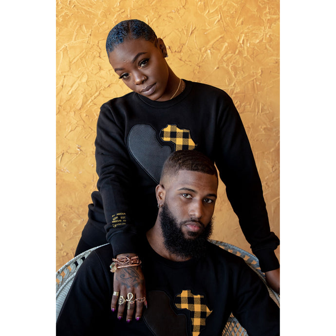 BLACK UNISEX PREMIUM SWEATER - AMOUR NOIR