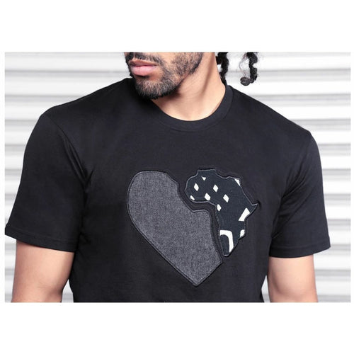 Heart of Africa black - T shirt