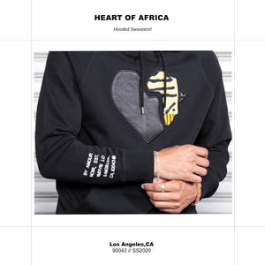 Heart of Africa Black Hoodie - AMOUR NOIR