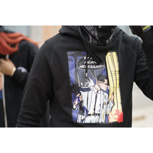 "X ""By Any Means Necessary"" Black Hoodie"