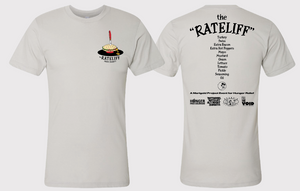 """The Rateliff"" T-Shirt - 100% of sales benefit local hunger organizations"