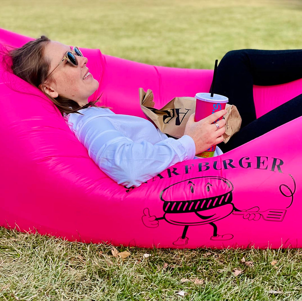 Pink Inflatable Lounger