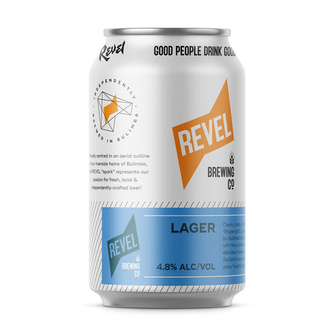 Revel Lager Craft Beer