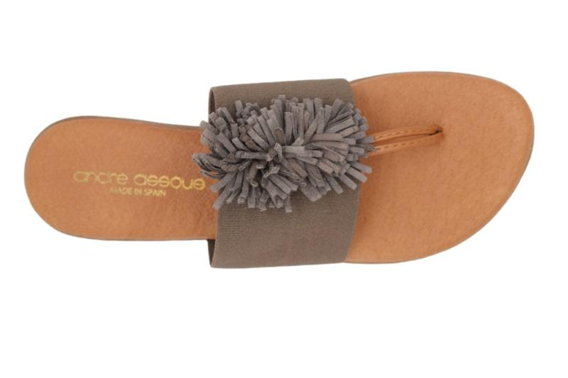 Andre Assous Novalee Taupe Sandal