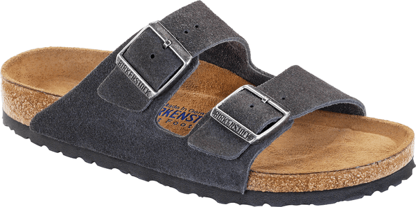 Birkenstock Arizona Velvet Grey SFB Sandal - Narrow