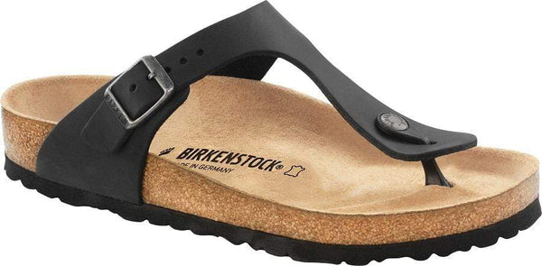 Birkenstock Gizeh Black Oiled Leather - Toe Thong