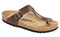 Birkenstock Gizeh Golden Brown Leather - Toe Thong - Narrow