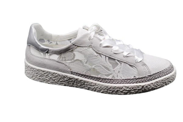 Softwaves White Lace Flat Sneaker
