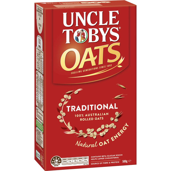 Uncle Tobys Traditional Oats 500g