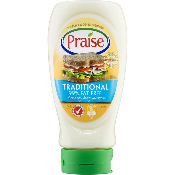 Praise 99% Fat Free Squeeze Mayonnaise 555g