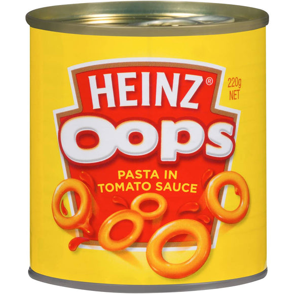Heinz Spaghetti Oops In Tomato & Cheese Sauce 220g