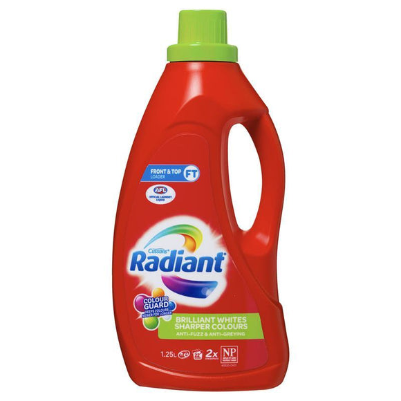 Radiant Laundry Det Liq Brilliant Whites Sharper Colours 1.25L