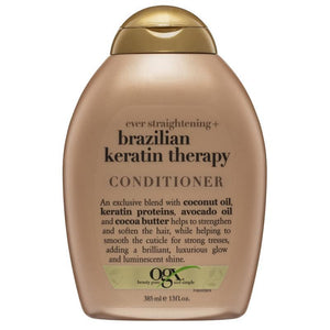 OGX Brazillian Keratin Therapy Ever Straight Conditioner 385mL