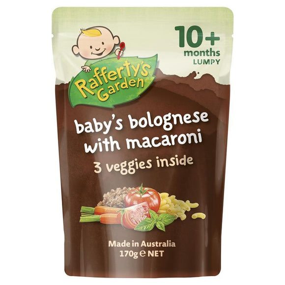 Raffertys Garden 10+ Months Bolognese with Macaroni 170g