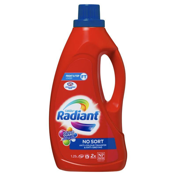 Radiant Laundry Detergent Liquid Mixed Colour Wash 1.25 Litres