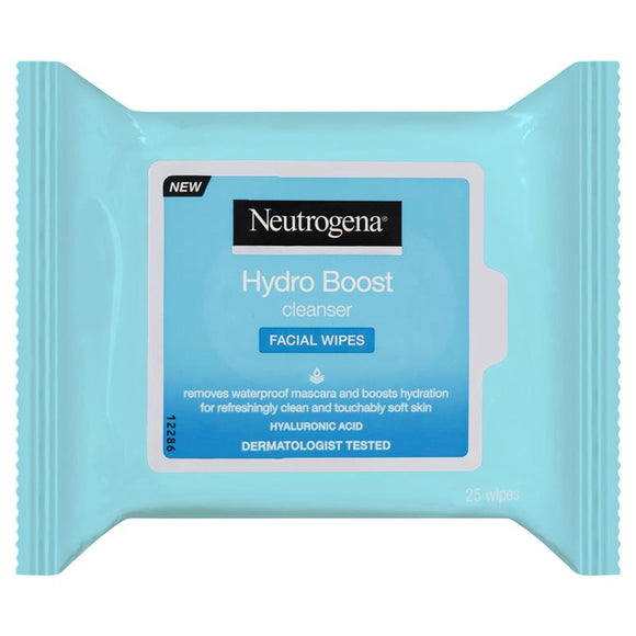 Neutrogena Hydro Boost Cleanser Make-up Remover Facial Wipes 25 Pack