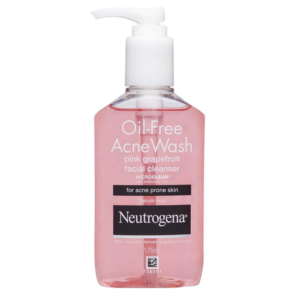 Neutrogena Oil Free Acne Wash Pink Grapefruit Facial Cleanser 175ml