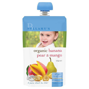 Bellamy's Organic Banana Pear & Mango 120g