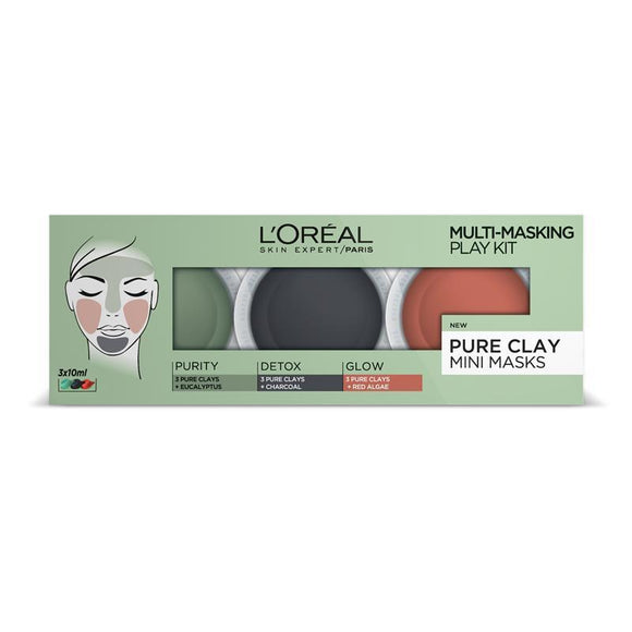 L'Oreal Paris Clay Multi Masking Kit