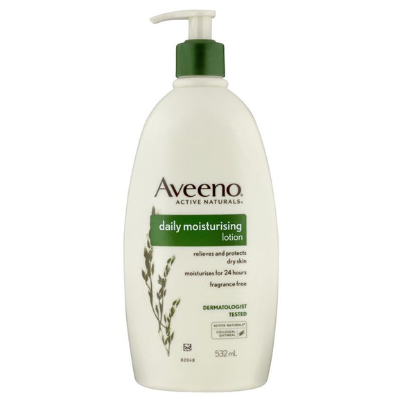 Aveeno Active Naturals Daily Moisturising Fragrance Free Lotion 532mL