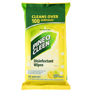 Pine O Cleen Surface Wipes Lemon Lime 45
