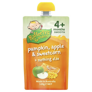 Raffertys Garden 4 Months Pump Apple & Corn 120g