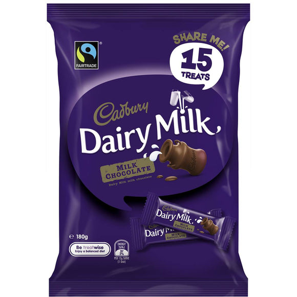Cadbury Dairy Milk Chocolate Sharepack 15pk 180g