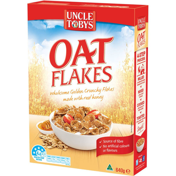 Uncle Tobys Oat Flakes Original 640g