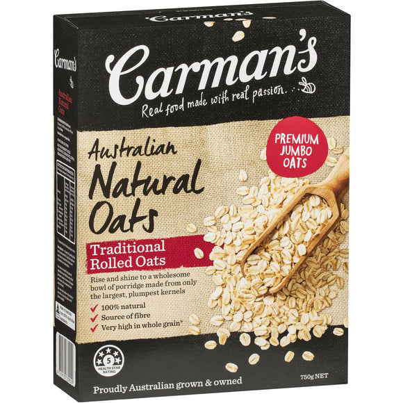 Carman's Traditional Natural Rolled Oats 750g