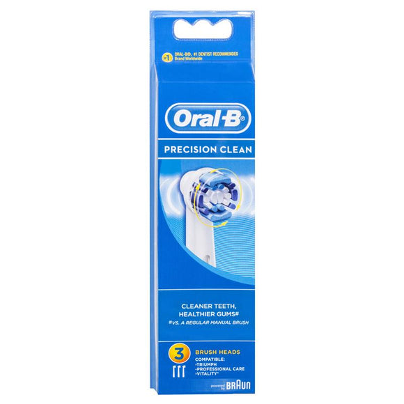 Oral-B Precision Clean Replacement Electric Toothbrush Heads 3 Pack