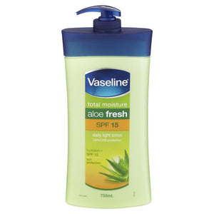Vaseline Intensive Care SPF 15 Body Lotion Aloe Soothe 750ml
