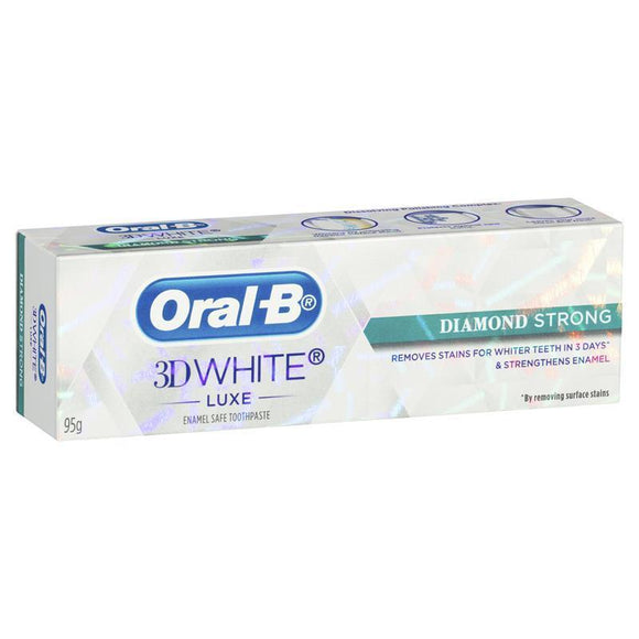 Oral B 3D White Luxe Diamond Strong Toothpaste 95g