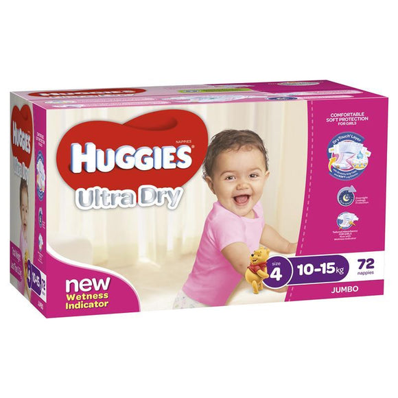 Huggies Jumbo Toddler Girl 72 Pack