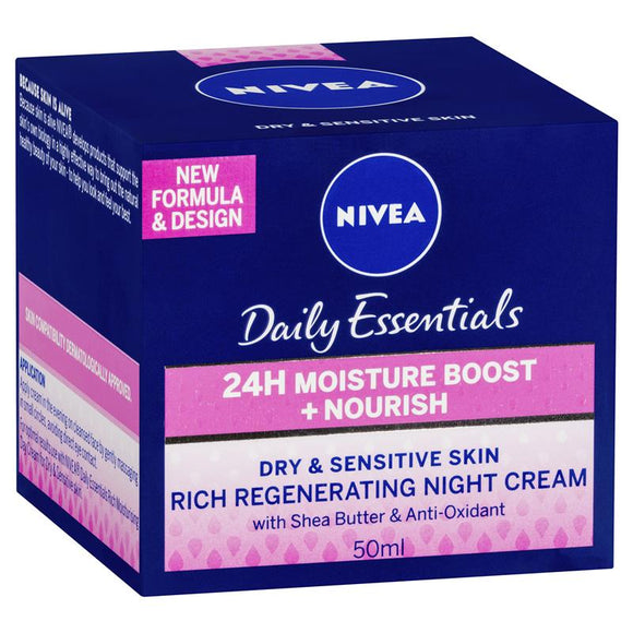 Nivea Visage Daily Essentials Rich Regenerating Night Cream 50ml