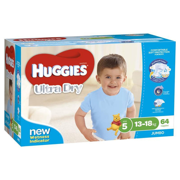 Huggies Jumbo Walker Boy 64 Pack