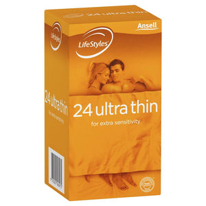 Ansell LifeStyles Condoms Ultra Thin 24 Pack