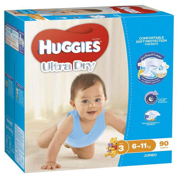 Huggies Jumbo Crawler Boy 90 Pack