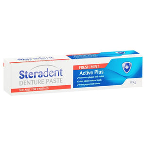 Steradent Denture Cleaning Paste Fresh Mint 115g